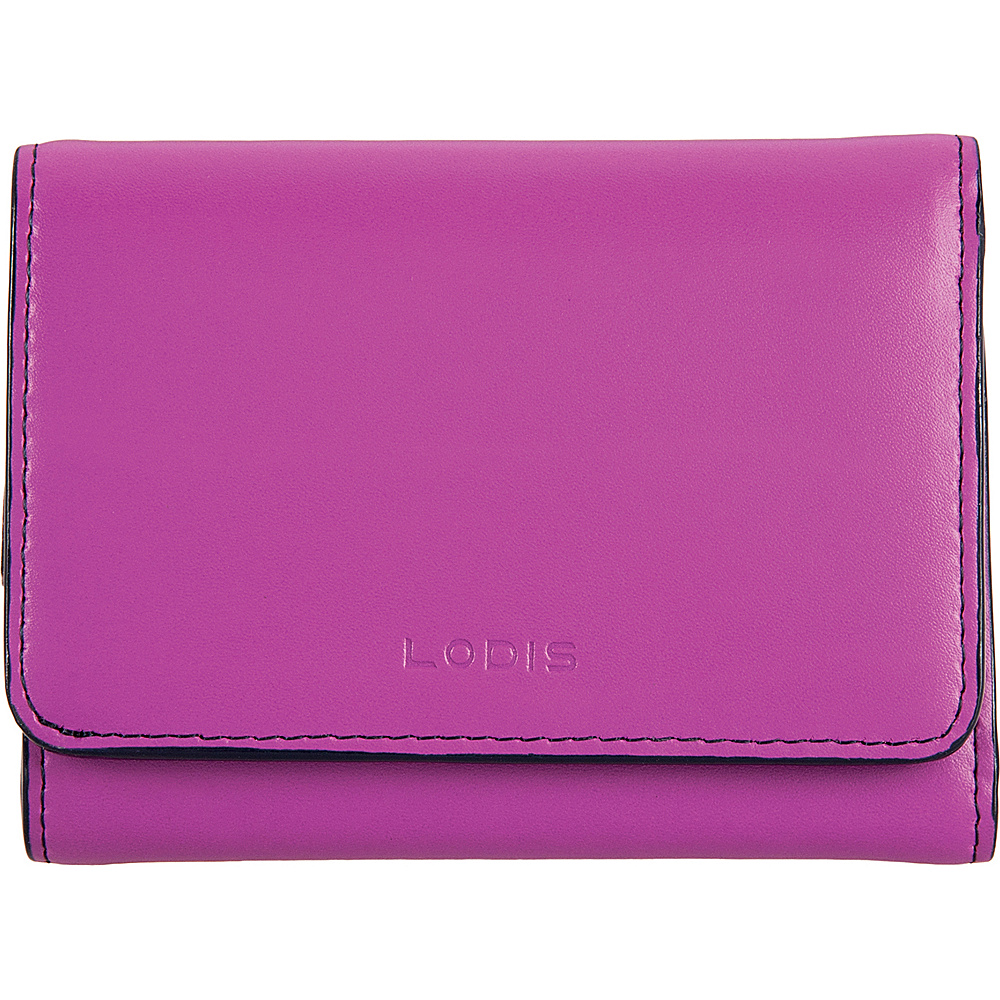 Lodis Audrey Mallory RFID French Wallet Orchid/Navy - Lodis Womens Wallets - Women's SLG, Women's Wallets