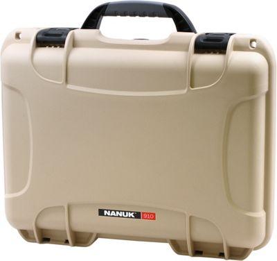 NANUK 910 Water Tight Protective Case w/ Foam Insert Tan - NANUK Camera Accessories