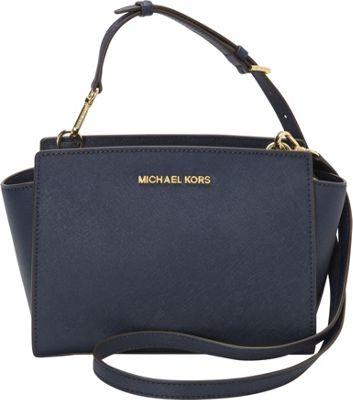 MICHAEL Michael Kors Selma Medium Messenger Crossbody Bag Navy - MICHAEL Michael Kors Designer Handbags