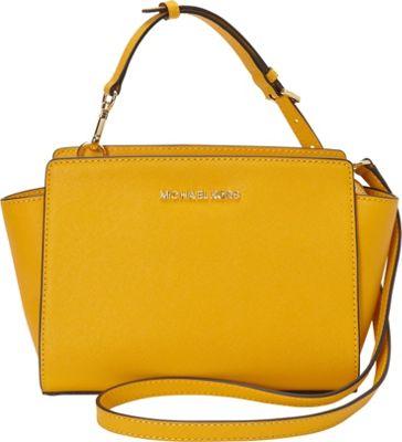 MICHAEL Michael Kors Selma Medium Messenger Crossbody Bag Sun - MICHAEL Michael Kors Designer Handbags