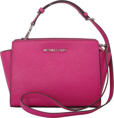 MICHAEL Michael Kors Selma Medium Messenger Crossbody Bag Fuschia - MICHAEL Michael Kors Designer Handbags
