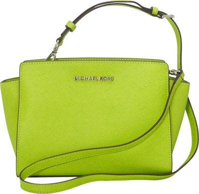 MICHAEL Michael Kors Selma Medium Messenger Crossbody Bag Pear - MICHAEL Michael Kors Designer Handbags