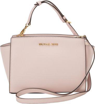 MICHAEL Michael Kors Selma Medium Messenger Crossbody Bag Blush - MICHAEL Michael Kors Designer Handbags