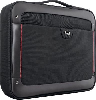 SOLO Executive 17.3 inch Laptop Slim Brief Black - SOLO Non-Wheeled Business Cases