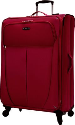 Skyway Mirage Superlight Expandable Upright Luggage - 28 inch Formula 1 Red - Skyway Softside Checked