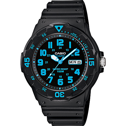 Casio Men's Dive Style Watch Blue - Casio Watches