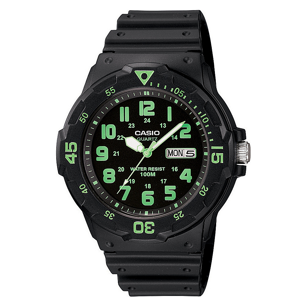 Casio Men's Dive Style Watch Green - Casio Watches