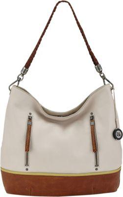 The Sak Indio Hobo Shoulder Bag Stone Tobacco Perf - The Sak Leather Handbags