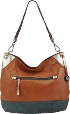 The Sak Indio Hobo Shoulder Bag Golden Tobacco Block - The Sak Leather Handbags