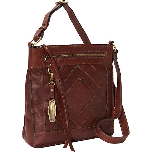 Lucky Brand Baldwin Crossbody Brandy - Lucky Brand Leather Handbags