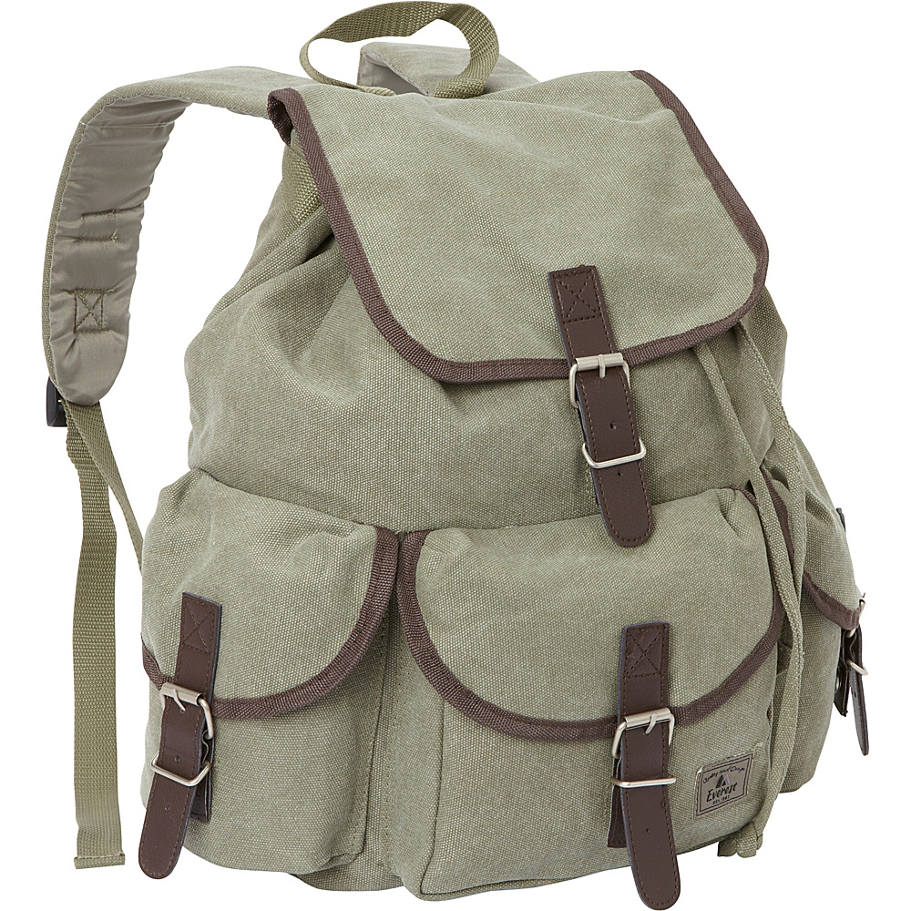 Everest Canvas Rucksack Olive - Everest Everyday Backpacks - Backpacks, Everyday Backpacks