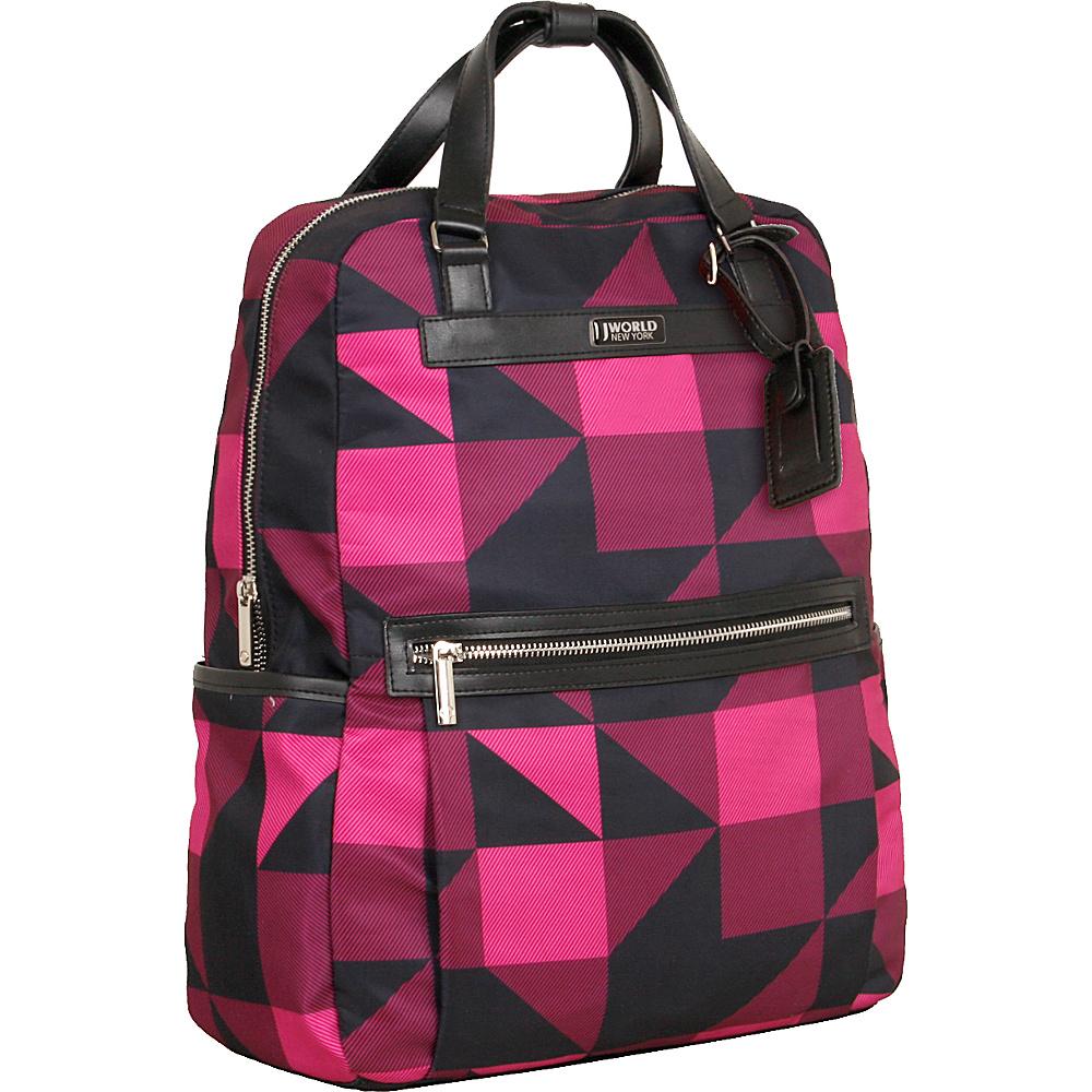 J World New York Harry Laptop Backpack Block Pink - J World New York Business & Laptop Backpacks - Backpacks, Business & Laptop Backpacks