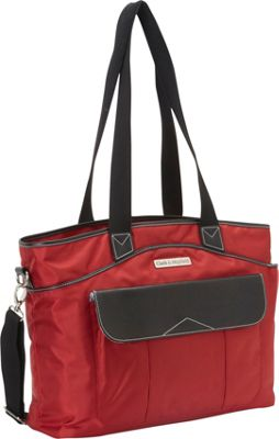 Clark & Mayfield Newport Laptop Handbag 17.3 inch Red - Clark & Mayfield Women's Business Bags