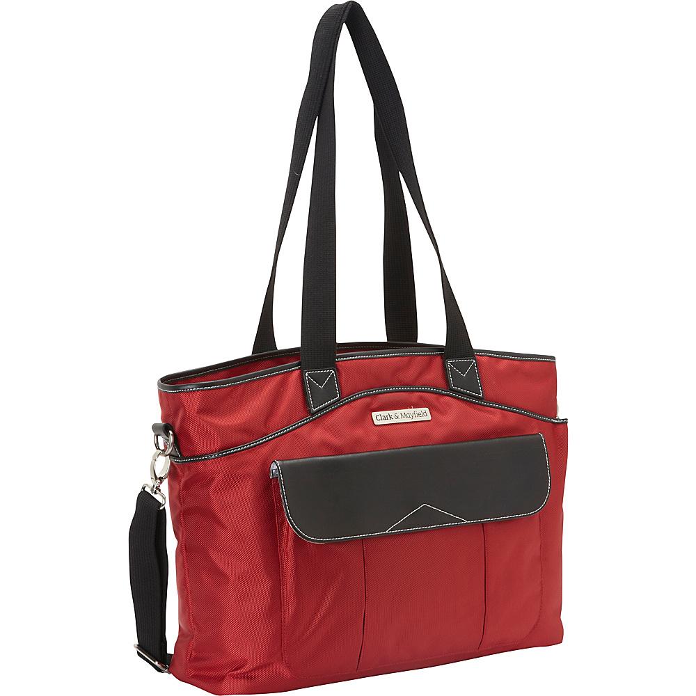 "Clark & Mayfield Newport Laptop Handbag 17.3"" Red - Clark & Mayfield Women's Business Bags"