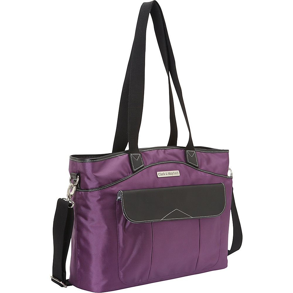 Clark Mayfield Newport Laptop Handbag 17.3 Purple Clark Mayfield Ladies Business