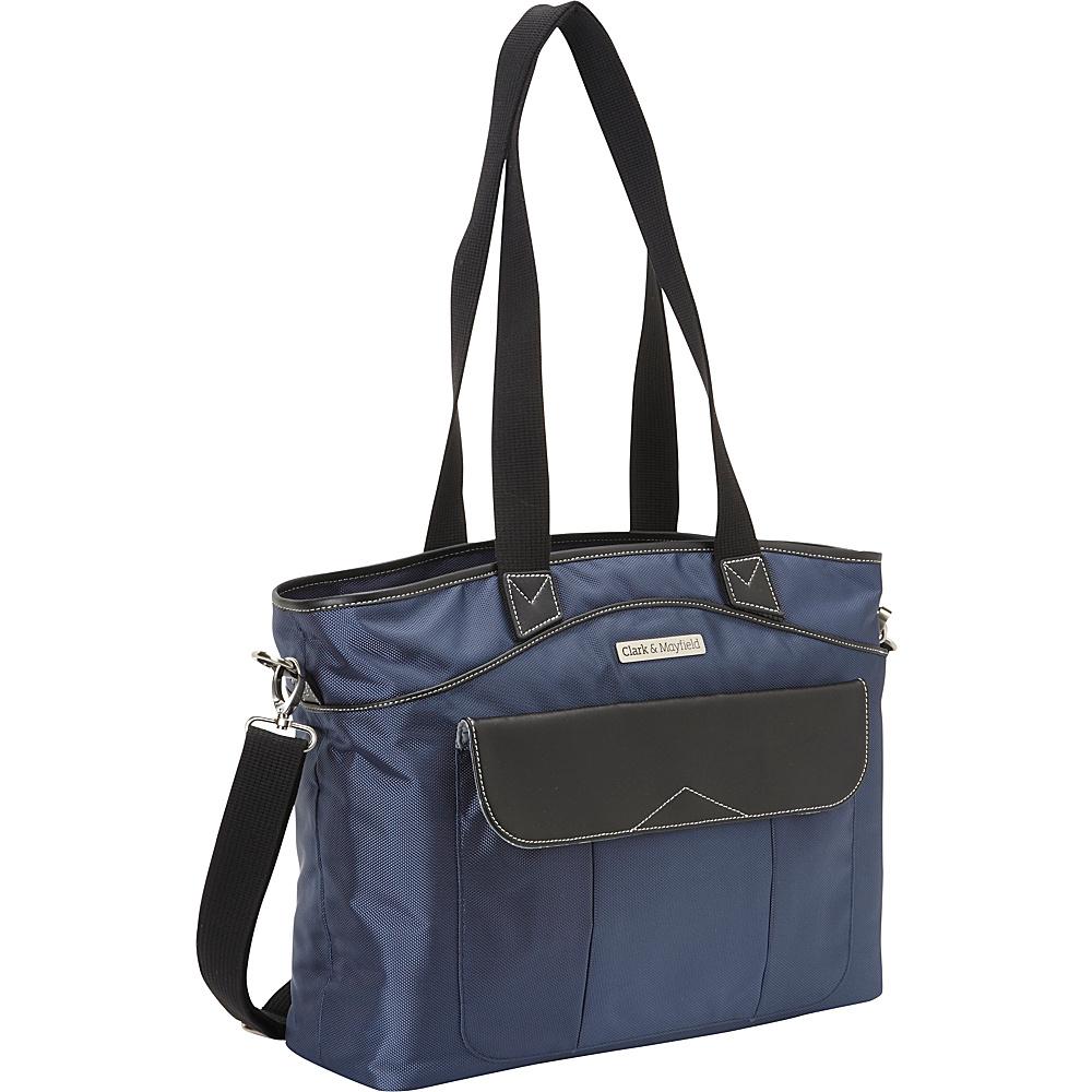 Clark Mayfield Newport Laptop Handbag 17.3 Navy Blue Clark Mayfield Ladies Business