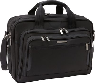 Briggs & Riley Briggs & Riley Medium Expandable Laptop Brief Black - Briggs & Riley Non-Wheeled Business Cases