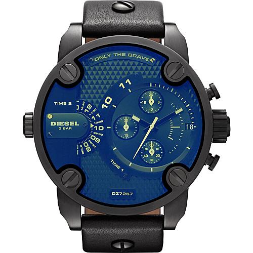 Diesel Watches Little Daddy Black Strap / Iradescent Crystal - Diesel Watches Watches