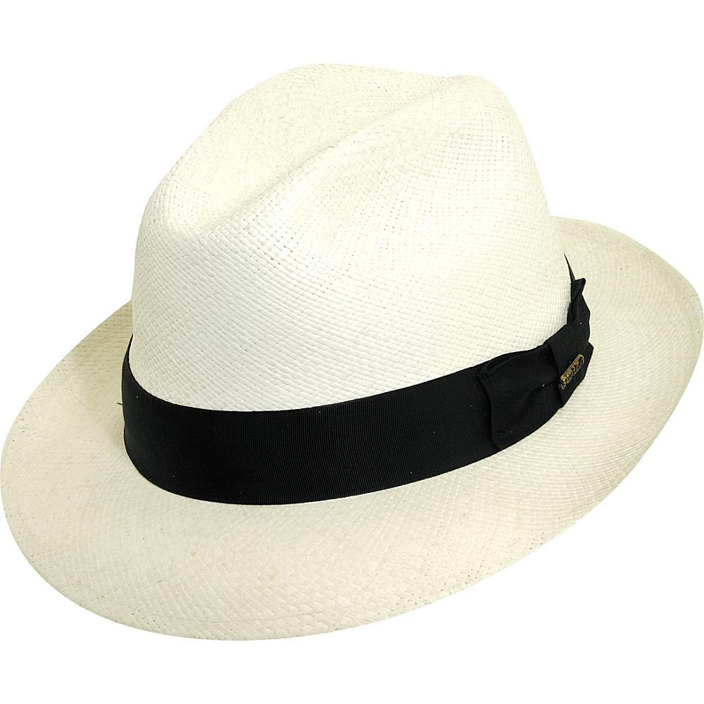 Scala Hats Panama Snap Brim Hat M - Bleach - Scala Hats Hats/Gloves/Scarves