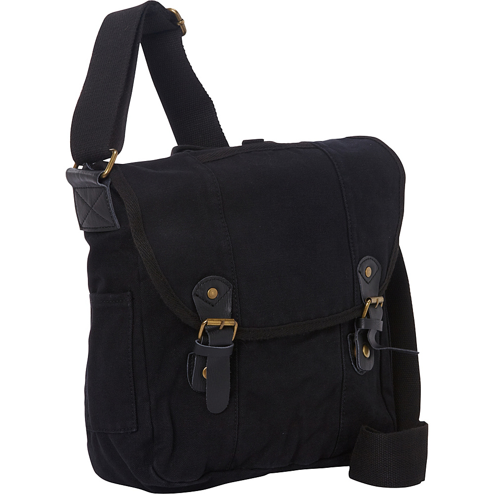 Vagabond Traveler Vertical Canvas Satchel Bag Black - Vagabond Traveler Other Mens Bags - Work Bags & Briefcases, Other Men's Bags