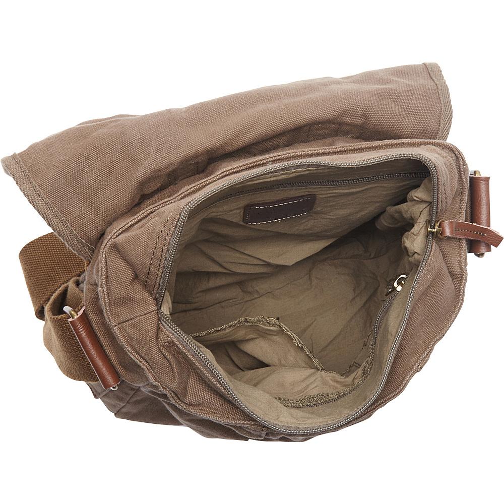 Vagabond Traveler Vertical Canvas Satchel Bag Military Green - Vagabond Traveler Other Men's Bags