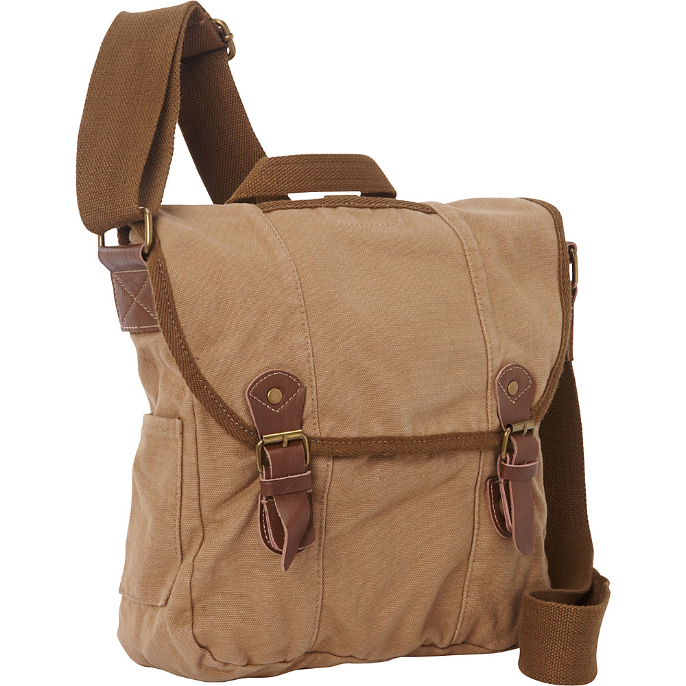 Vagabond Traveler Vertical Canvas Satchel Bag Khaki - Vagabond Traveler Other Mens Bags - Work Bags & Briefcases, Other Men's Bags