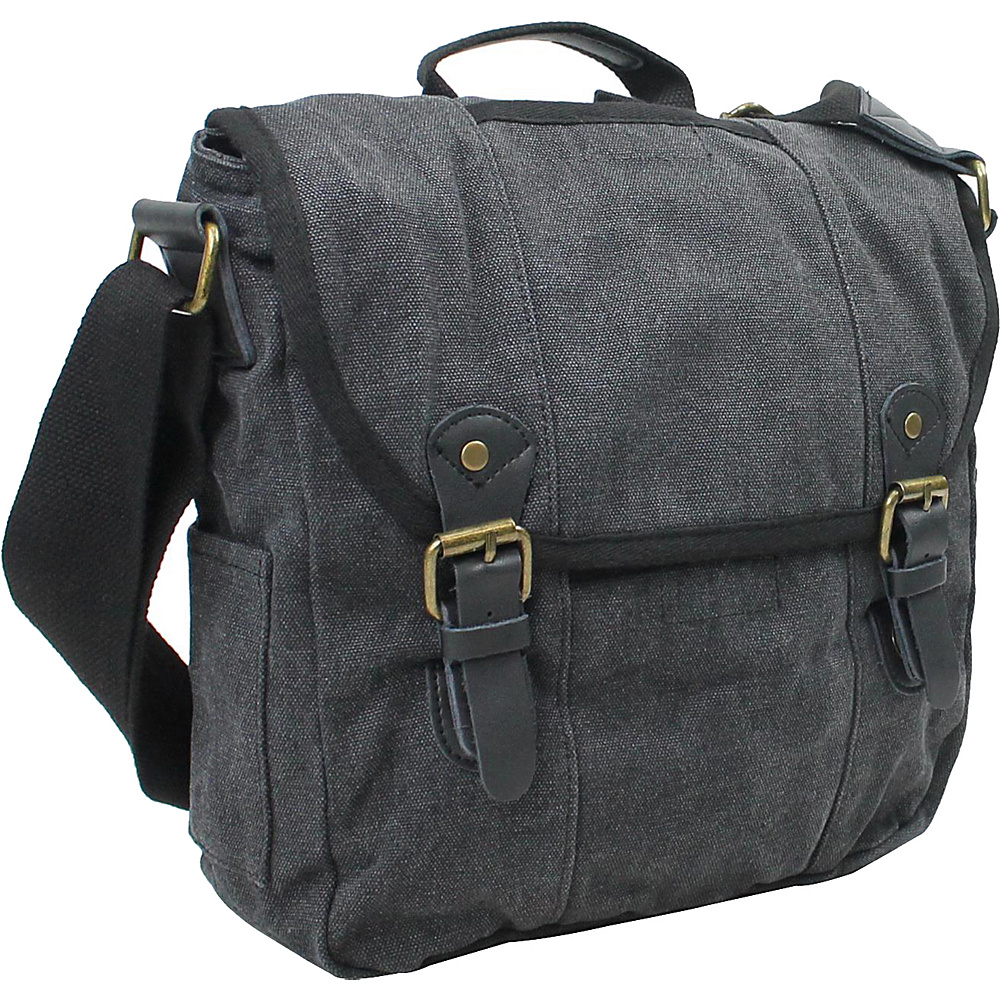 Vagabond Traveler Vertical Canvas Satchel Bag Grey - Vagabond Traveler Other Mens Bags - Work Bags & Briefcases, Other Men's Bags