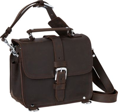 "Vagabond Traveler 11"" Leather Camera/Tablet Bag Dark Brow..."