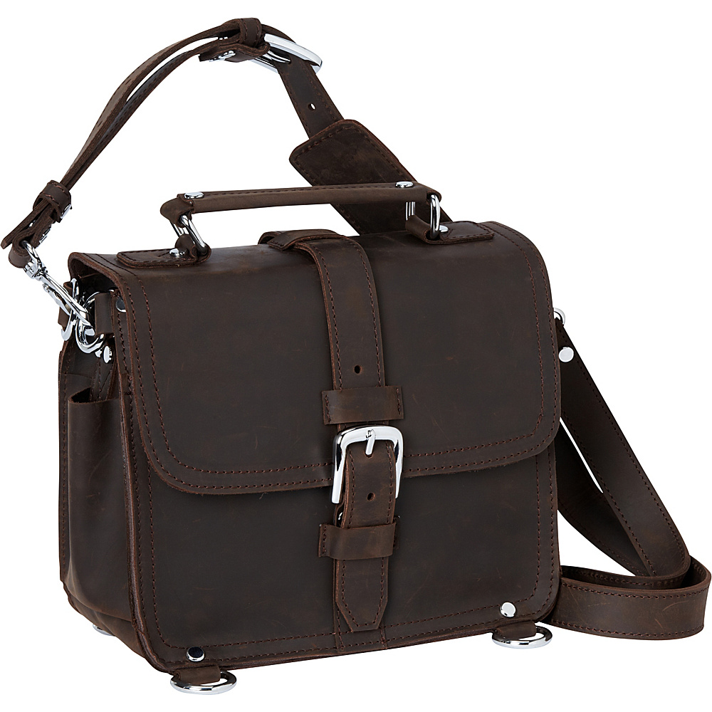 Vagabond Traveler 11 Leather Camera/Tablet Bag Dark Brown - Vagabond Traveler Other Mens Bags - Work Bags & Briefcases, Other Men's Bags