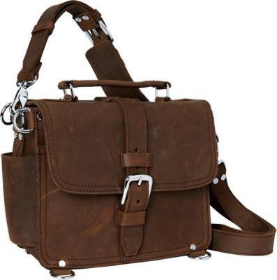 """Vagabond Traveler 11"""" Leather Camera/Tablet Bag Vintage Brown - Vagabond Traveler Men's Bags"""