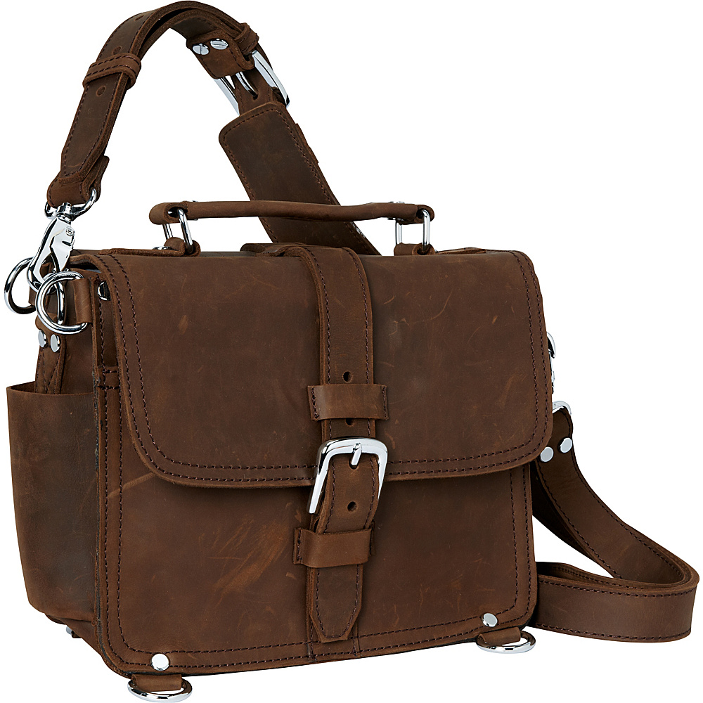"Vagabond Traveler 11"" Leather Camera/Tablet Bag Vintage Brown - Vagabond Traveler Other Men's Bags"