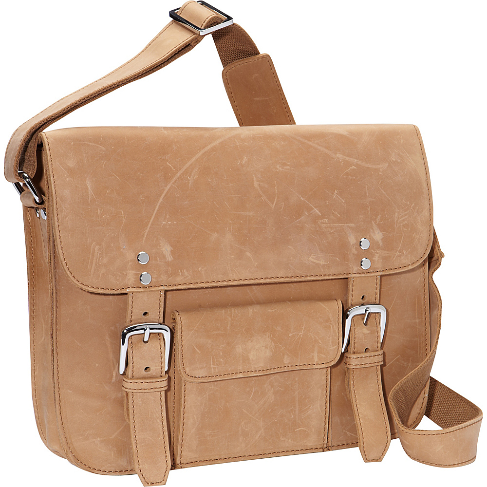 Vagabond Traveler 15 Leather Messenger Nature Brown - Vagabond Traveler Messenger Bags - Work Bags & Briefcases, Messenger Bags