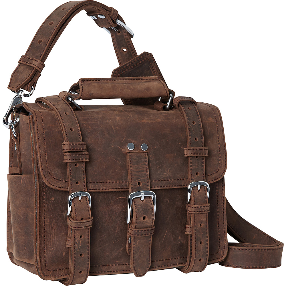 Vagabond Traveler 12 Classic Full Leather Messenger Tablet Bag Vintage Distress - Vagabond Traveler Other Mens Bags - Work Bags & Briefcases, Other Men's Bags