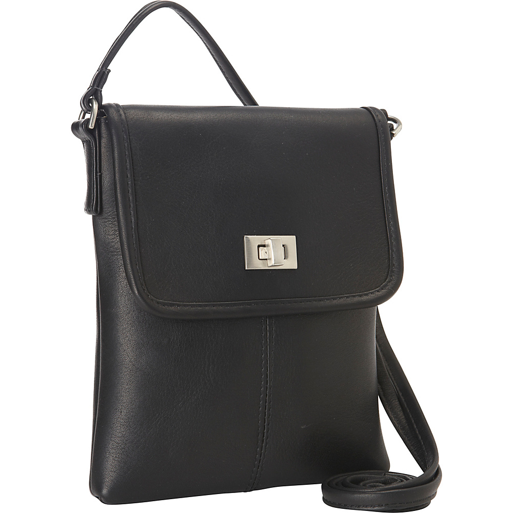 Le Donne Leather Talas Crossbody Black - Le Donne Leather Leather Handbags - Handbags, Leather Handbags