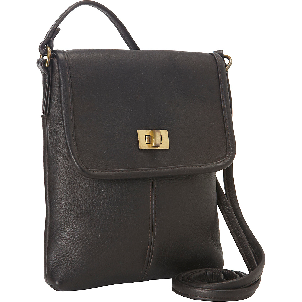 Le Donne Leather Talas Crossbody Cafe - Le Donne Leather Leather Handbags - Handbags, Leather Handbags