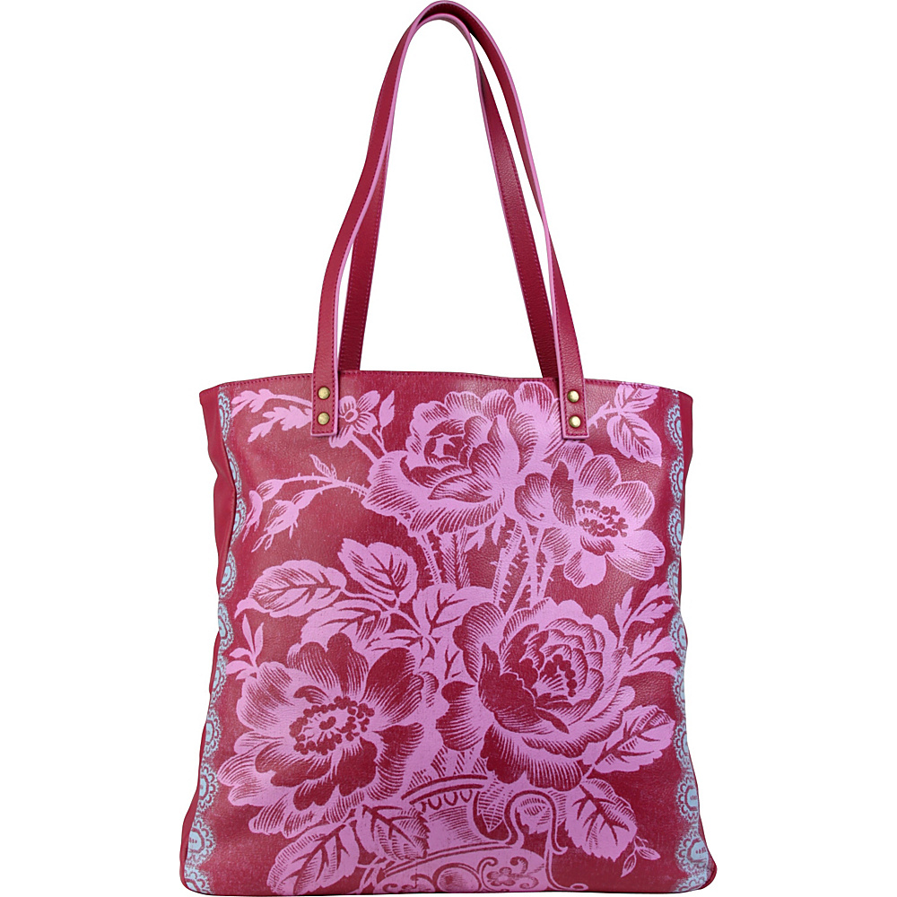 Amy Butler for Kalencom Alissa Tote Cabbage Rose Raspberry - Amy Butler for Kalencom All-Purpose Totes