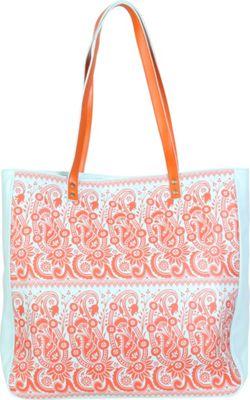 Image of Amy Butler for Kalencom Alissa Tote Rhapsody Tangerine - Amy Butler for Kalencom Leather Handbags