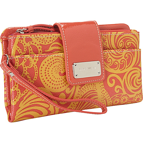 Nine West Handbags Can't Stop Shopper Wallet Warm Sun - Nine West Handbags Ladies Clutch Wallets
