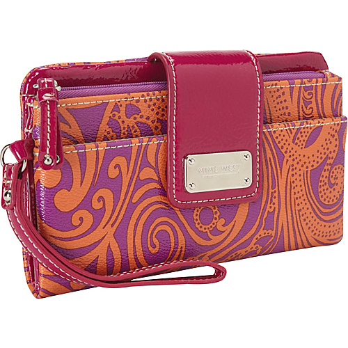Nine West Handbags Can't Stop Shopper Wallet Electric Magenta - Nine West Handbags Ladies Clutch Wallets