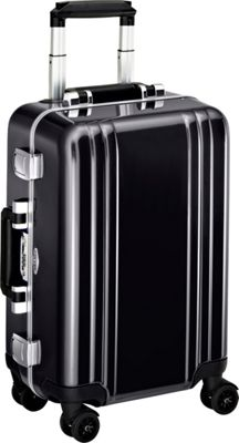 Zero Halliburton Classic Polycarbonate Carry On 4 Wheel Spinner Travel Case Black - Zero Halliburton Hardside Carry-On