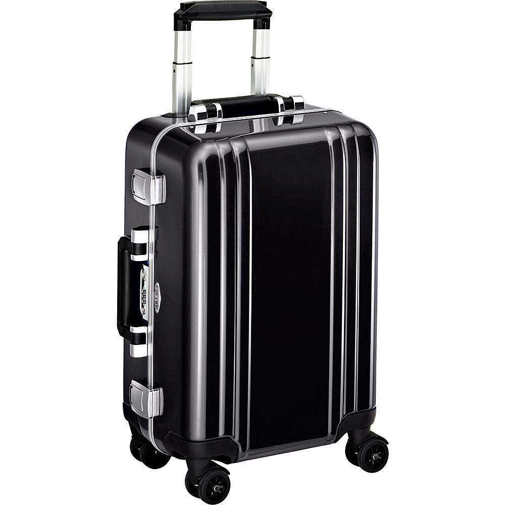 Zero Halliburton Classic Polycarbonate Carry On 4 Wheel Spinner Travel Case Black Zero Halliburton Hardside Carry On