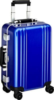Zero Halliburton Classic Polycarbonate Carry On 4 Wheel Spinner Travel Case Blue - Zero Halliburton Hardside Carry-On