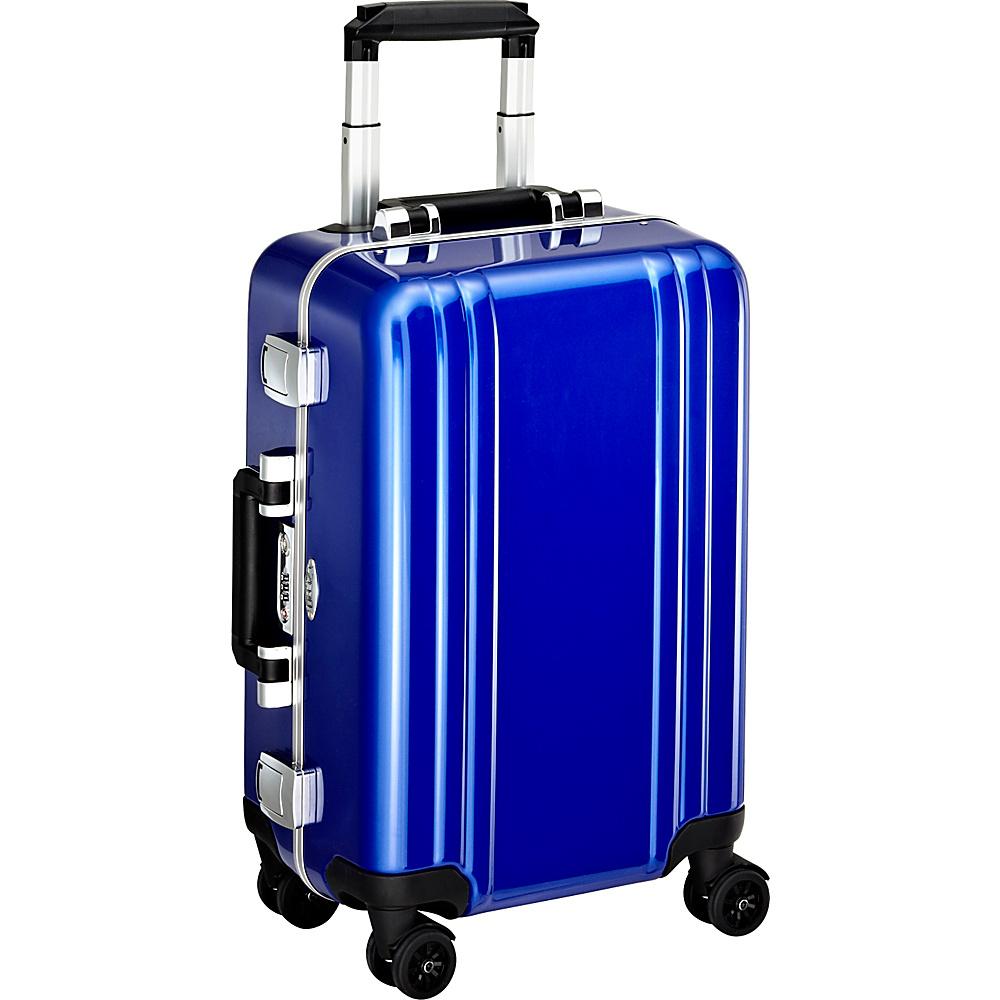 Zero Halliburton Classic Polycarbonate Carry On 4 Wheel Spinner Travel Case Blue Zero Halliburton Hardside Carry On