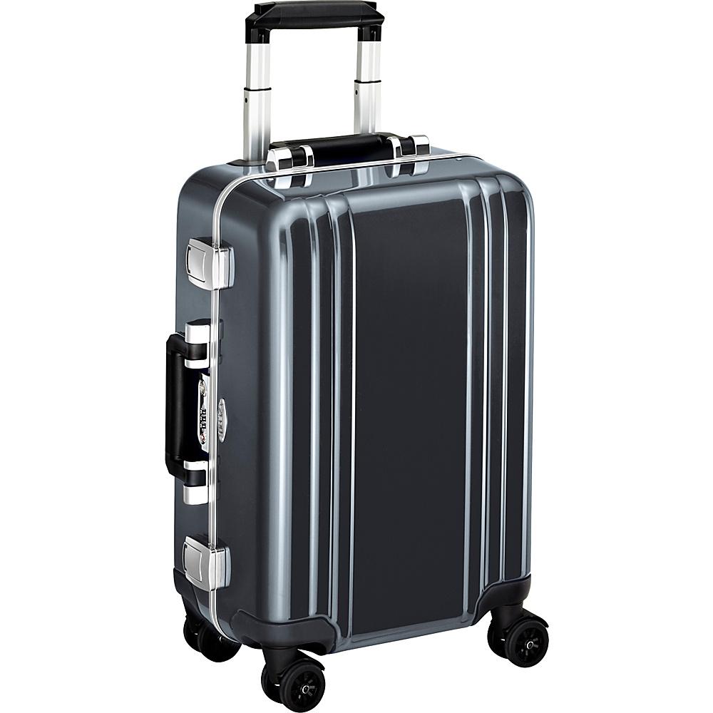 Zero Halliburton Classic Polycarbonate Carry On 4 Wheel Spinner Travel Case Gun Metal GM Zero Halliburton Hardside Carry On