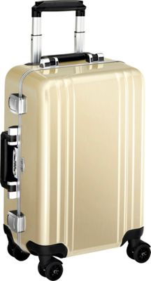 Zero Halliburton Classic Polycarbonate Carry On 4 Wheel Spinner Travel Case Polished Gold