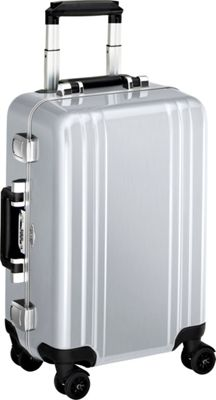 Zero Halliburton Classic Polycarbonate Carry On 4 Wheel Spinner Travel Case Silver - Zero Halliburton Hardside Carry-On