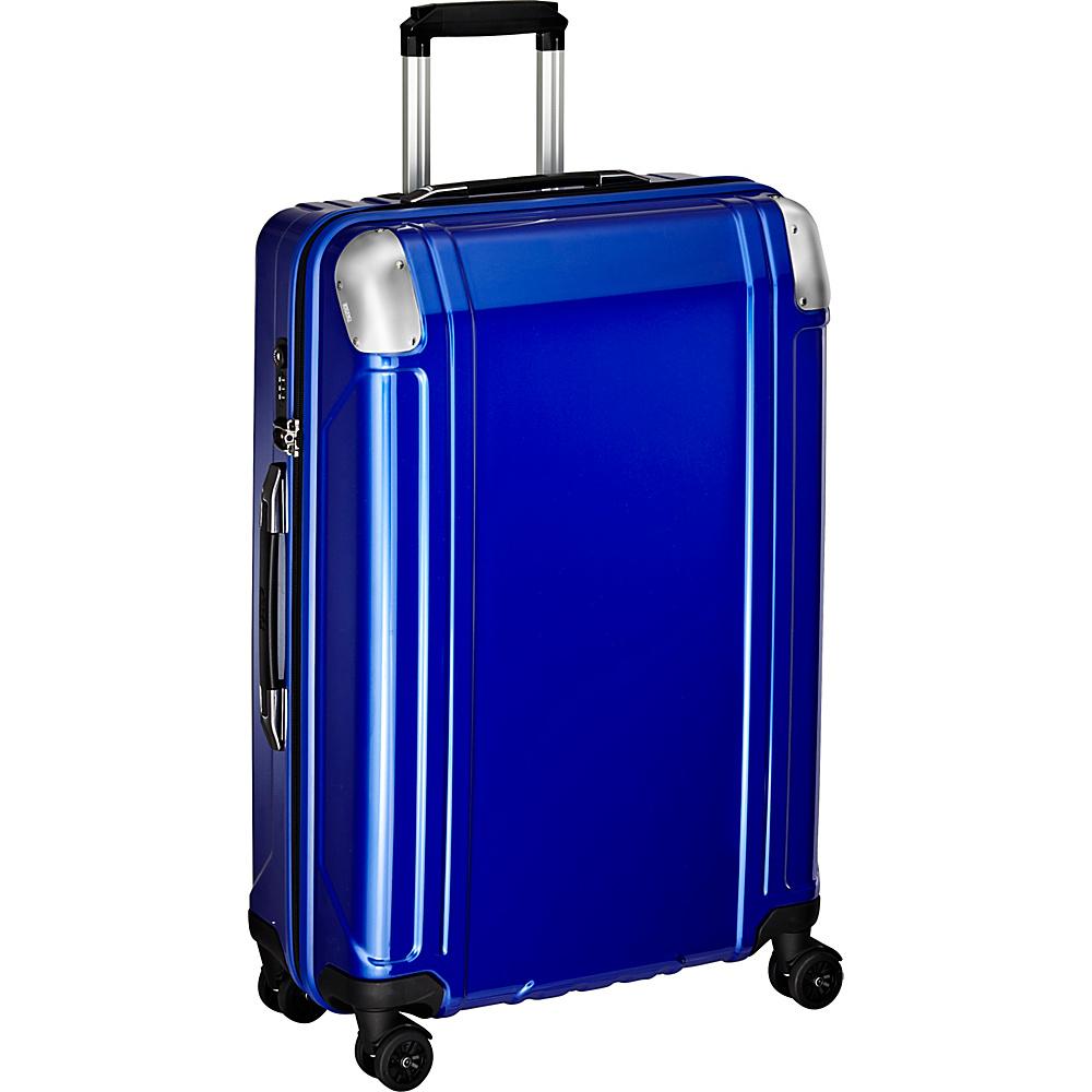 Zero Halliburton Geo Polycarbonate 26 4 Wheel Spinner Travel Case Blue Zero Halliburton Hardside Checked