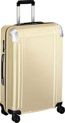Zero Halliburton Geo Polycarbonate 26 inch 4 Wheel Spinner Travel Case Polished Gold
