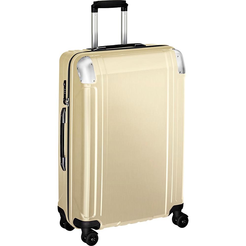 Zero Halliburton Geo Polycarbonate 26 4 Wheel Spinner Travel Case Polished Gold PG Zero Halliburton Hardside Checked