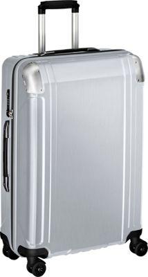 Zero Halliburton Geo Polycarbonate 26 inch 4 Wheel Spinner Travel Case Silver - Zero Halliburton Hardside Checked